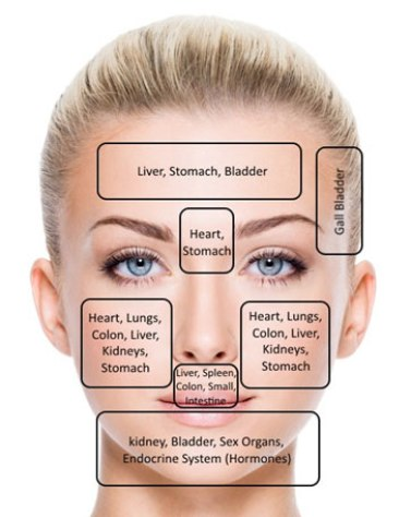 Image result for acne face map