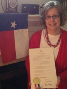 Terri G's Governor's Proclamation, TX
