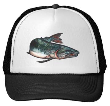 SalmonTruckerHatBlack