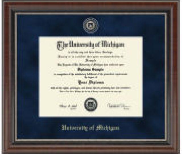University Of Michigan Diploma Frame Church Hill Classics Regal Edition Diploma Frame Bach