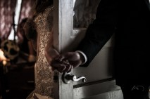 Don't Peek! I love the sparkling pattern on her wedding dress.
