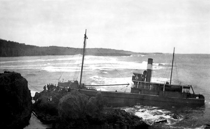 The ss Bodalla was wrecked off Narooma jut under 10 years later - on 27.01.1924