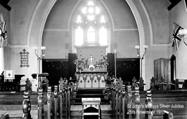 The new altar was consecrated at the church's silver jubilee in 1915.
