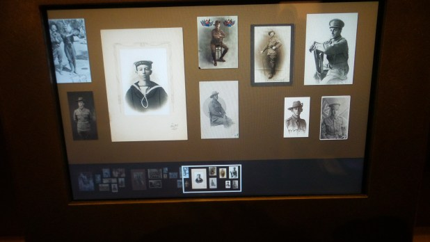 Many photos have been digitised and are used very effectively in the exhibition. They appear both in original form and as part of a touch screen display.
