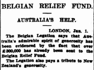 Sydney Morning Herald, 4 January , 1915