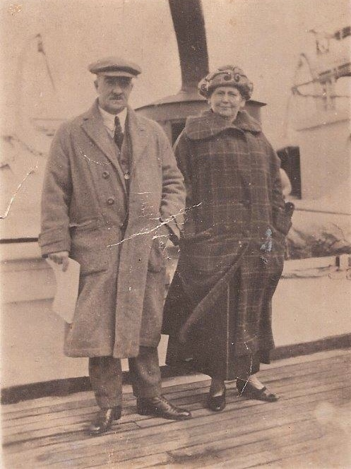 George and Caroline Holmes on a world honeymoon cruise 1906