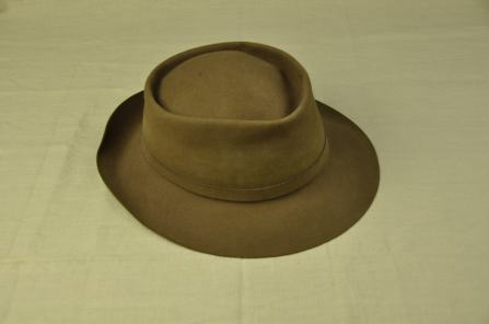 Men's brown felt ( rabbit) fedora-style hat. Italian made by 'Borsalino;.