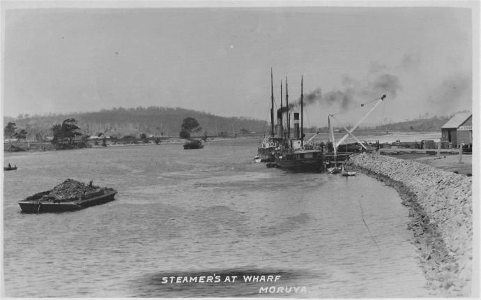 A010-2-15 Two Steamer's at wharf about 1908