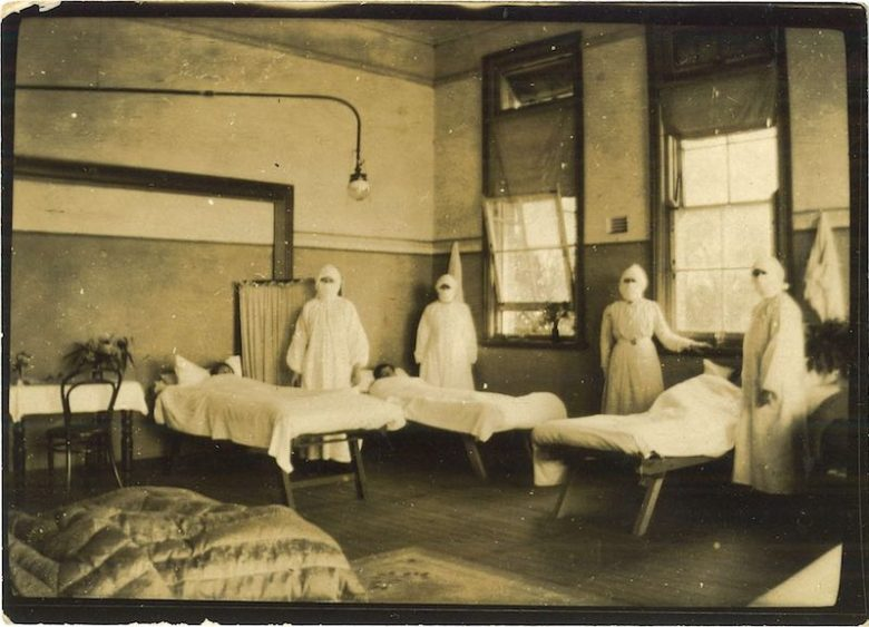 Nowra-Public-School-converted-into-a-temporary-hospital-for-pneumonic-influenza-epidemic-1919-SLM-picture-41328-copy