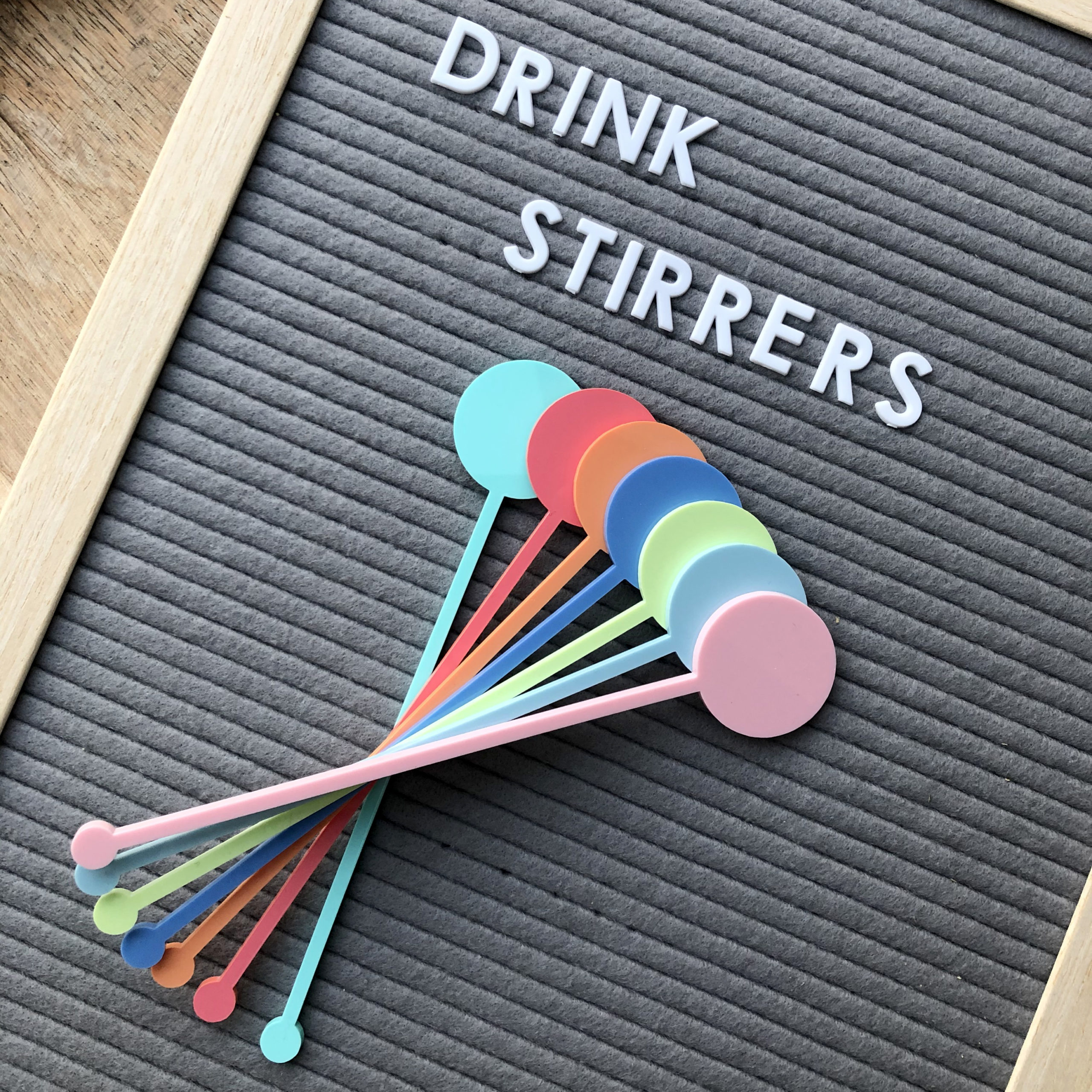 Pastel Coloured Drink Stirrers
