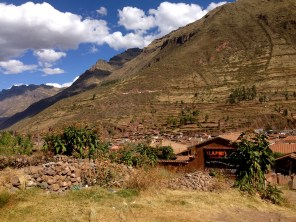 Our view while eating lunch in Pisac