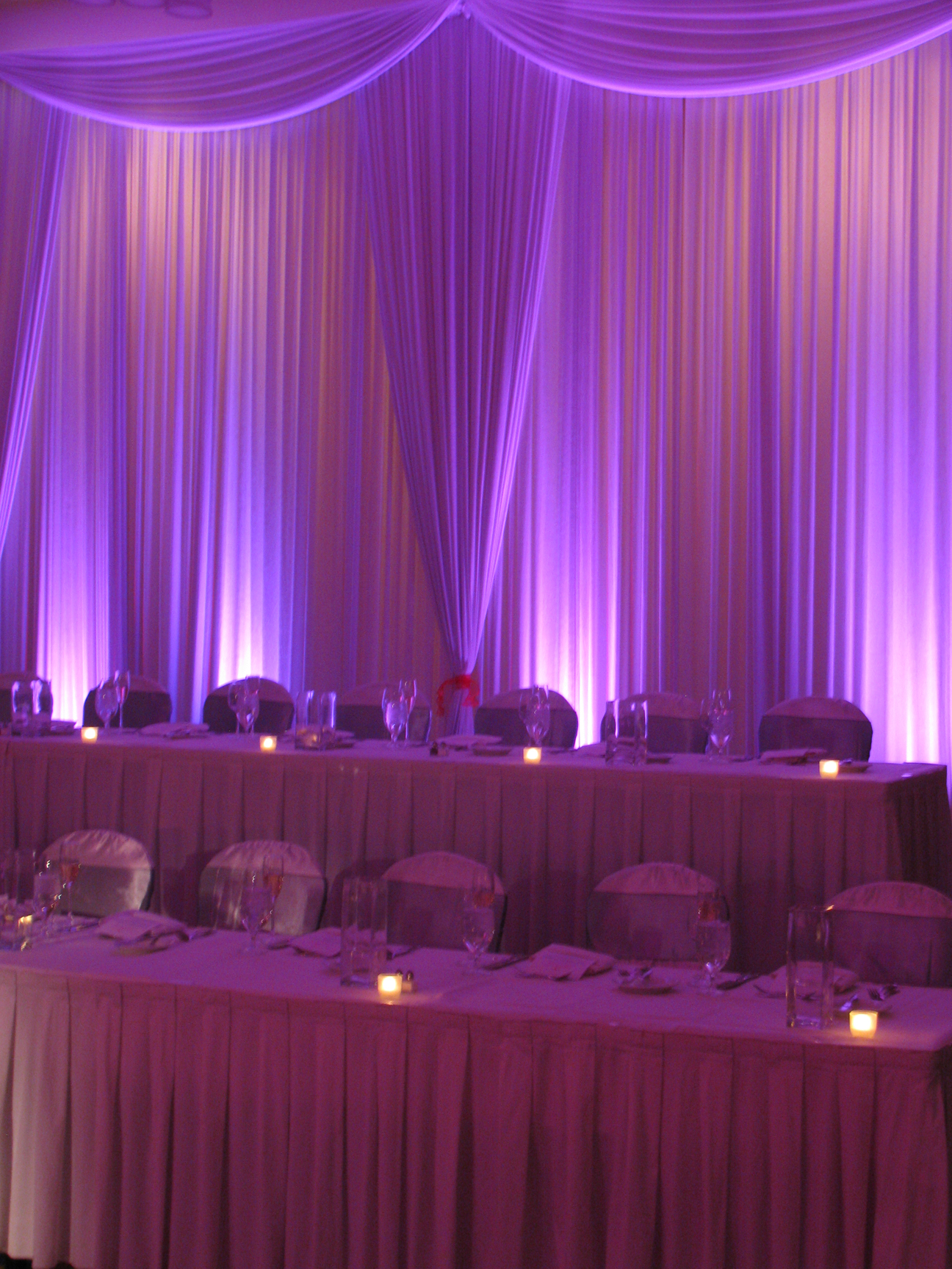 Head Table Backdrops with Swag  MDM Entertainment