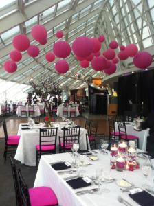 Adler Planetarium Hanging Lanterns for a Wedding