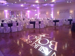 St George Banquets Wedding Lighting