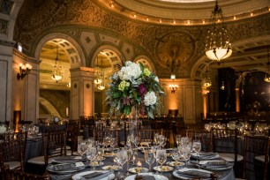 Chicago Cultural Center Wedding Lighting Photo by Ann and Kam Photography