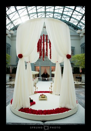 Harold Washington Library Wedding Ceremony Structure photo by Sprung Photo