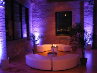 Uplighting and lounge set
