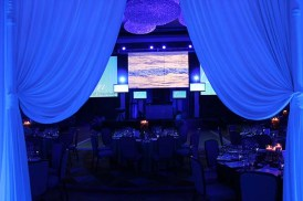 Lighting and Drape for a Corporate Event