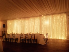 Twinkle Light Backdrop for a Galleria MArchetti Wedding