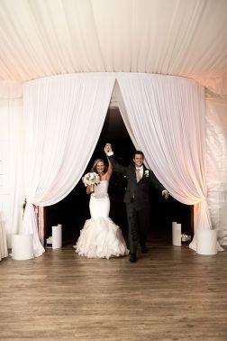 Wedding Entry Drape at Galleria Marchetti