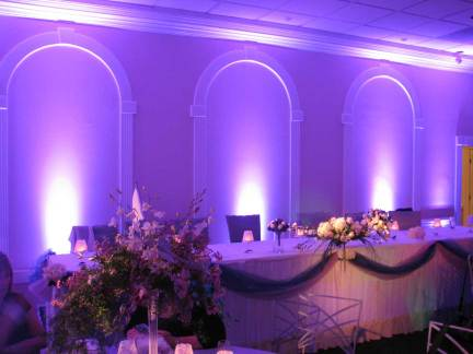 Wedding Up Lighting at Palos Hills Country Club
