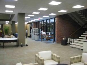Lewis University Library Before Lighting