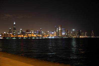 View of Chicago from Adler Planetarium