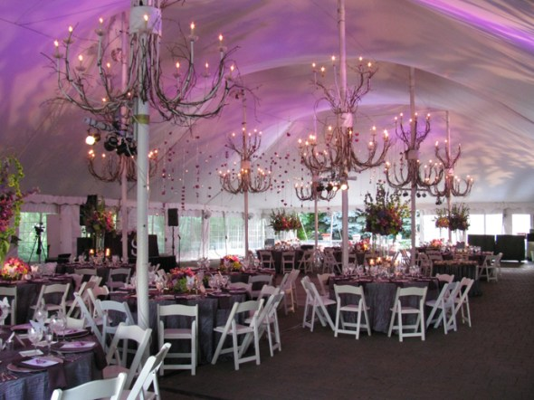 Lighting for a wedding at Galleria Marchetti