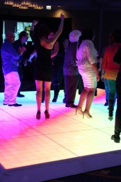 Light Up LED Dance Floor at a Company Party