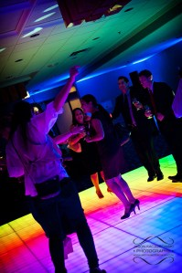 Light Up LED Dance Floor at a Party