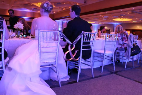 KB Marriott OHare Wedding Bride and Groom Chairs