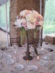 Table Centerpiece at Chicago Botanic Gardens Wedding