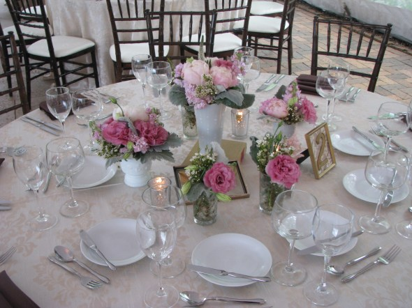 Centerpiece at Chicago Botanic Gardens Wedding