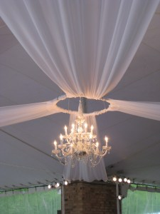 Chandelier Lighting at Chicago Botanic Gardens Wedding