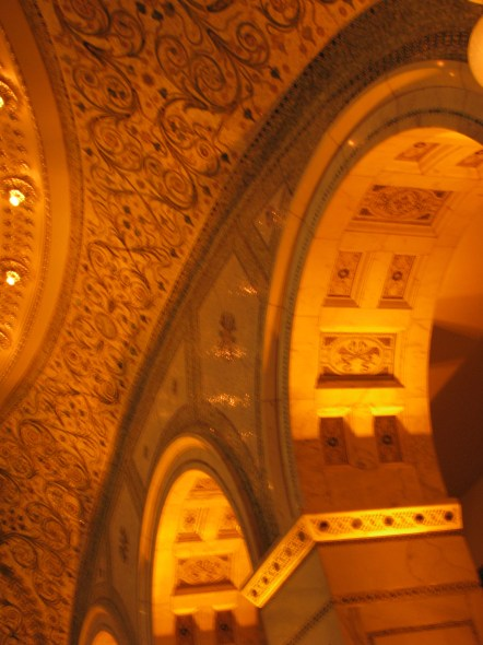 More Chicago Cultural Center Amber Uplighting