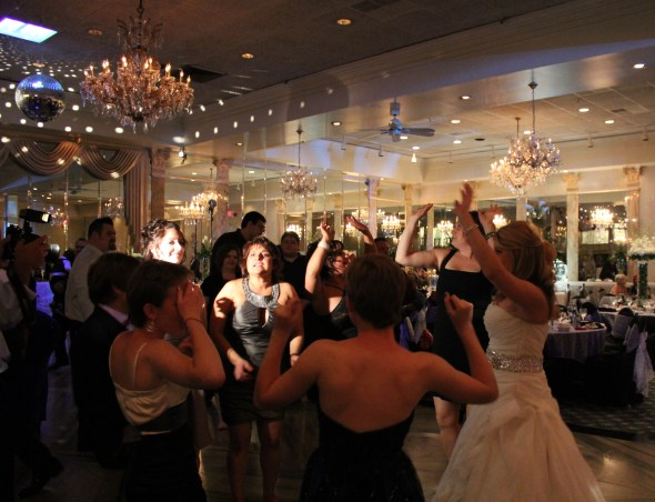 Bride Nicole celebrating at the Alta Villa Banquets