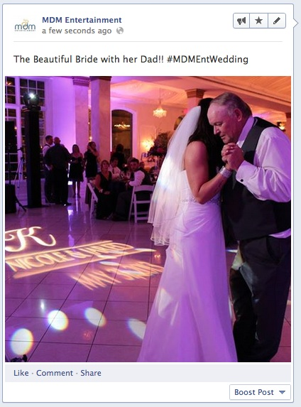 MDM Entertainment's Facebook Hashtag Picture