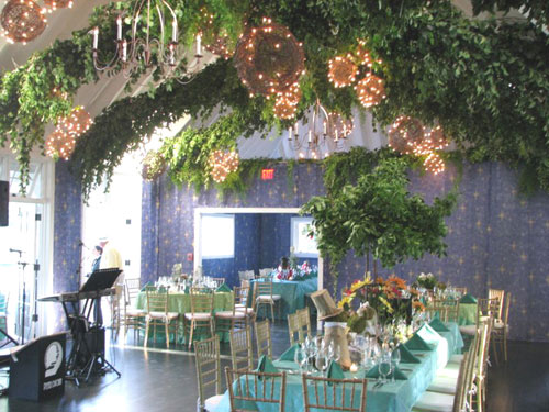 Grapevine Balls At Nature Themed Wedding Mdm Entertainment