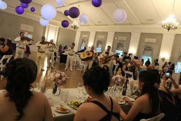 Mariachi Band during dinner at the Nineteenth Century Club Wedding