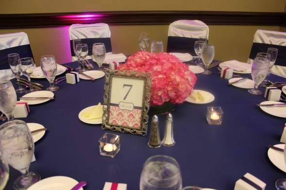 The Omni Chicago Hotel Wedding pink and navy blue theme
