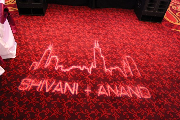 Shivani and Anand's Gobo at the Marriott Schaumburg Wedding