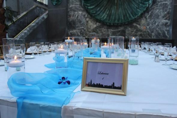 Head table, Wedding at Pazzo's