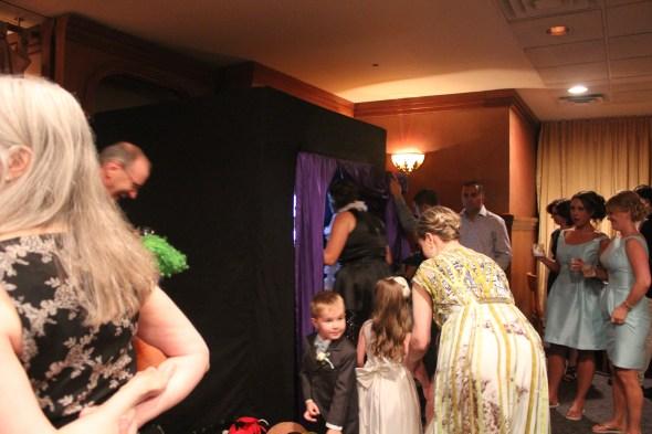 Fun Photo Booth at Wedding at Pazzo's
