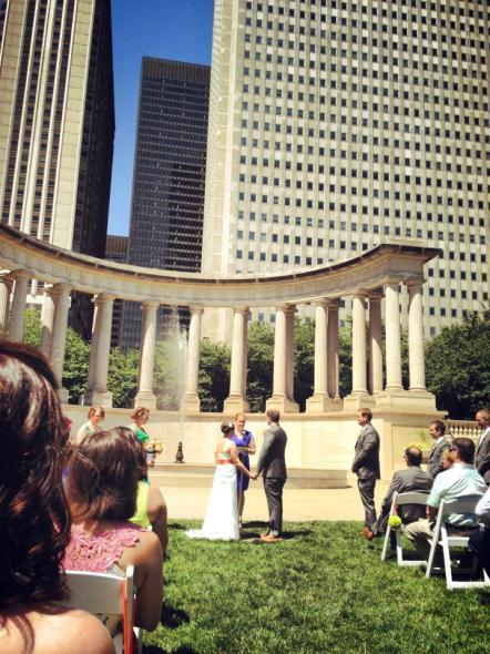 Millennium Park Vows for Prairie Productions Wedding