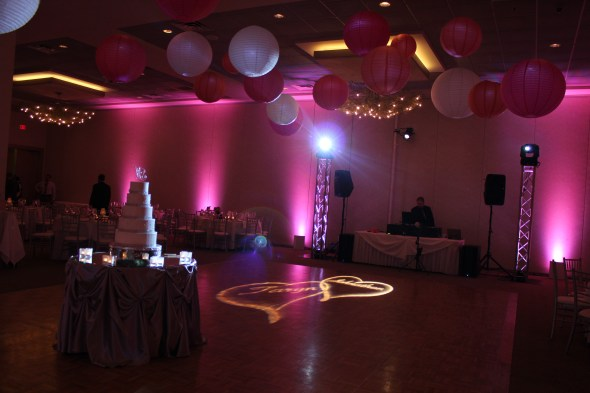 Personal Gobo at Belvedere Banquets Wedding