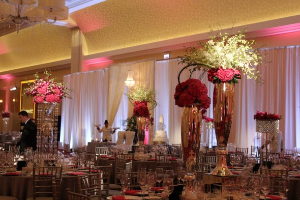 JW Marriott Chicago Wedding Centerpieces