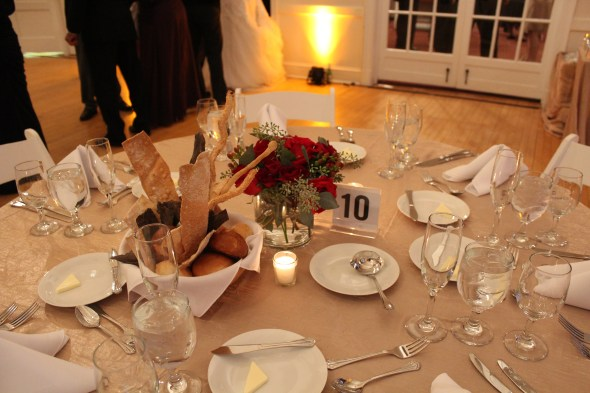 Highland Park Community House Wedding Centerpieces