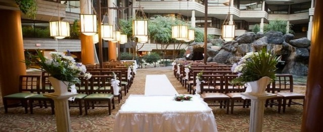 Hilton Chicago/ Indian Lake Resort Rustic Chic Wedding Venue Aisle