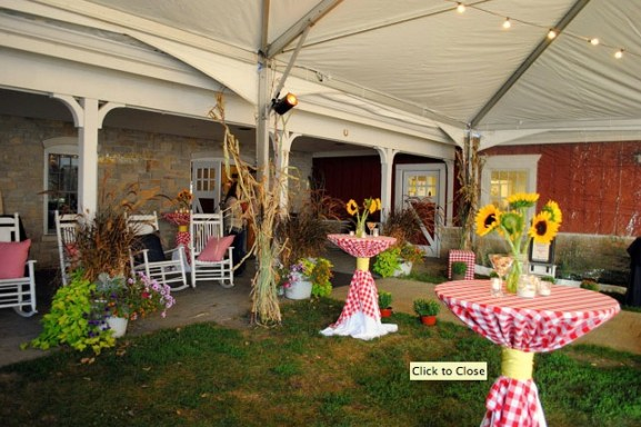 Wagner Farm Rustic Chic Wedding Venue Reception tent
