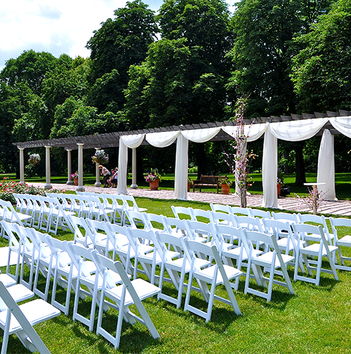 Cantigny Park Rustic Chic Ceremony
